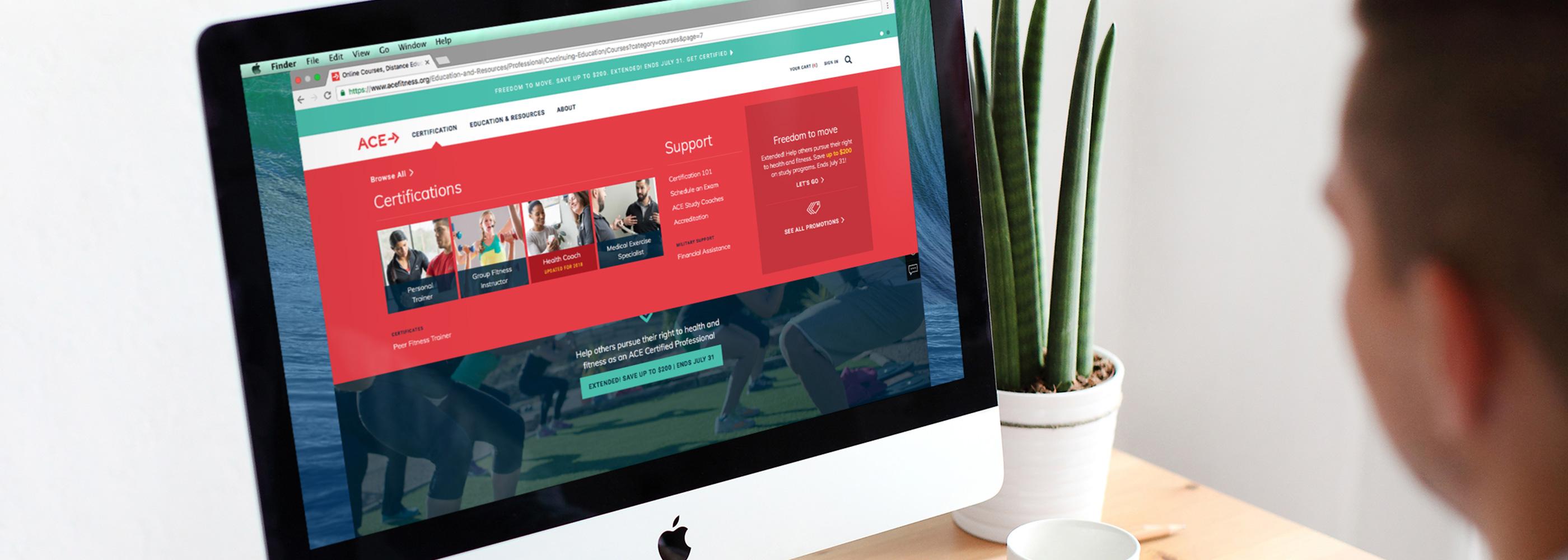Jloop Work Ace Fitness Website Redesign